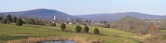 Emmitsburg, Maryland - Panoramic view of Emmitsburg from US-15 Rest Area