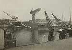 Enemy Activities - Miscellaneous - Germany builds passenger ships in war time. The Bismark under construction in a German shipyard - NARA - 31480086 (cropped).jpg