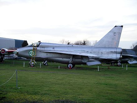 T.55 55-713 at the Midland Air Museum that retains its Royal Saudi Air Force markings - English Electric Lightning