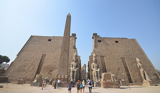 Entrance of Luxor Temple, Luxor, Egypt