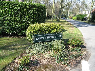 St George's Hill - Entrance to the tennis club.
