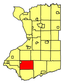 Location of North Collins in Erie County