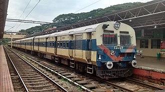 MEMU - A MEMU Train at Kollam Railway Station