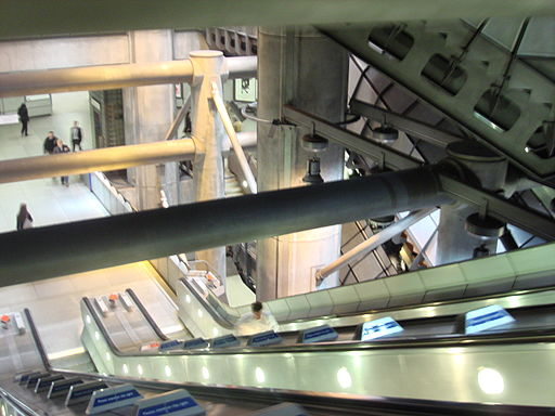 Escalators at westminster