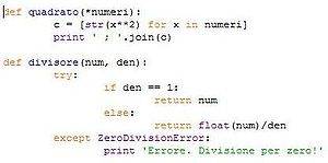English: example of Python Language