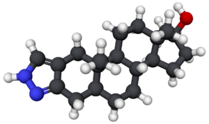 Stanozolol - Image: Estanozolol 3D
