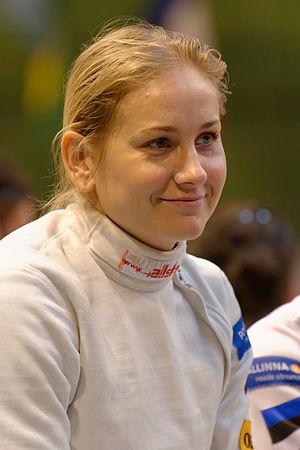 Kristina Kuusk - Image: Estonia v Ukrainia Challenge international de Saint Maur 2013 t 141337