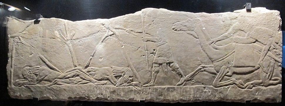 Età neoassira, tende di arabi incendiate dopo attacco, da pal. n di assurbanipal a ninive, 648-31 ac ca. 1