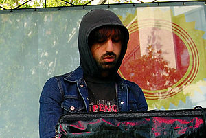 Ethan Kath - Ethan Kath performing with Crystal Castles at the Popped! Music Festival.