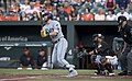 Evan Longoria at-bat 2017 (35511678331).jpg