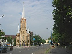 Near the center of the town with Lutheran Church