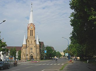 Szentes - Near the center of the town with Lutheran Church