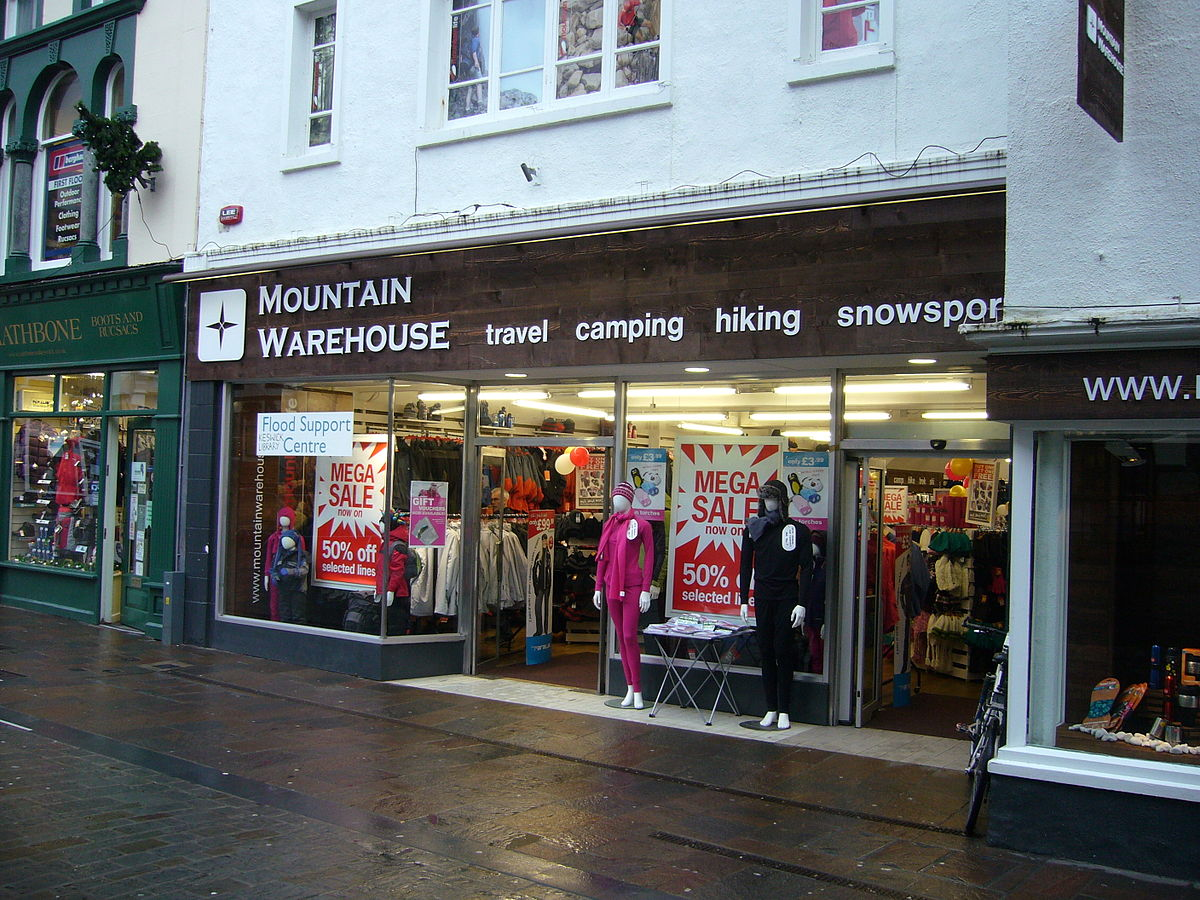 Mountain Warehouse. followers - We're the UK's largest outdoor retailer with + stores nationwide. Our stores and website offer great value outdoor clothing + equipment for all the family. We're the UK's largest outdoor retailer with + stores nationwide. Our stores and website offer great value outdoor clothing + equipment for all the.