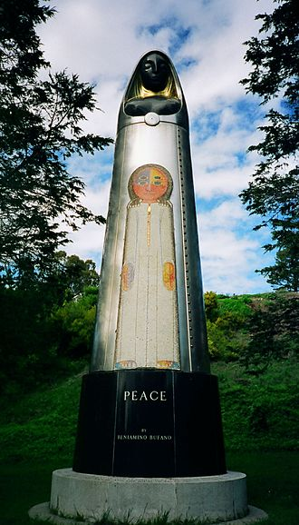 Lake Merced - Beniamino Bufano's public art Peace, which graced the entrance of SFO for decades