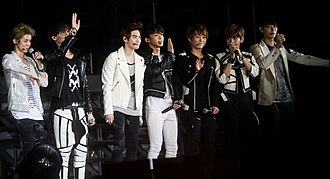 Exo (band) - Exo at SM Town Live World Tour III in Singapore in November 2012