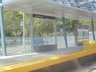 Expo/Vermont station - Expo/Vermont Station, eastbound platform.