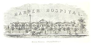 Harper University Hospital - Image: FARMER(1884) Detroit, p 710 HARPER HOSPITAL