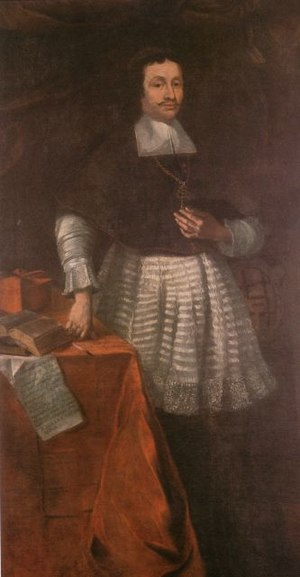 Ferdinand of Fürstenberg (1626–1683) - Prince Bishop Ferdinand II – Patron's portrait for the Franciscan monastery in Paderborn by Johann Georg Rudolphi 1672