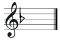 F major key signature on treble clef.png