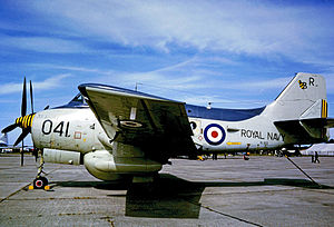 849 Naval Air Squadron - Gannet AEW.3 of 849 Squadron's 'B' Flight wearing the 'R' code of HMS Ark Royal in 1973
