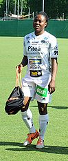 "Faith Ikidi, an example of a ""lean and muscular"" women's association football player"