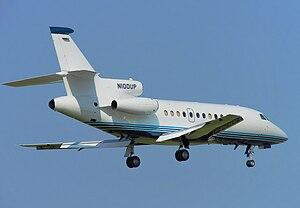 Dassault Falcon 900 - Dassault Falcon 900B lands at Birmingham Airport