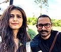 Fatima Sana Shaikh and Aamir Khan on the sets of Thugs of Hindostan.jpg