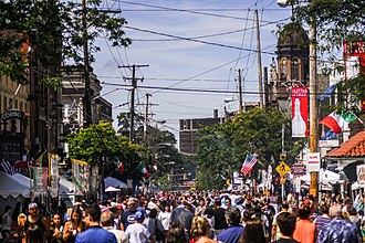 The Feast of the Assumption in Cleveland's Little Italy. Feast of the Assumption in Little Italy Cleveland (36388057482).jpg