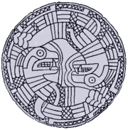 Ancient North American serpent imagery often featured rattlesnakes.