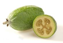 Pineapple Guava Feijoa sellowiana fruit