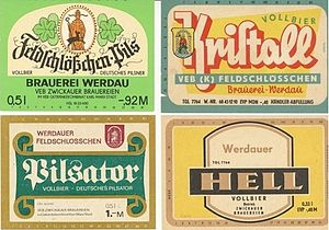 Pilsner - Historical examples of German pilsner beer labels (from East Germany)
