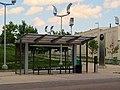 Fields Corner at Geneva Avenue bus stop, July 2013.JPG