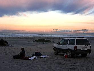 Ensenada Municipality - Camp on the beach NW of Punta Colonet