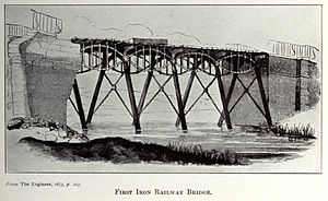 Gaunless Bridge - Engraving published in ''The Engineer'' (1875)