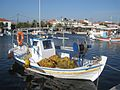 Fishing boat in Skala kalloni harbour, Skala kalloni, Greece.jpg