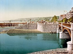 Flickr - …trialsanderrors - Pont Napoléon ^ Boulevard du Midi, Nice, France, ca. 1889 (1).jpg