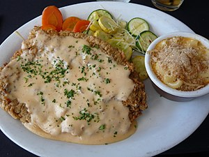 Chicken fried steak - Chicken fried steak with chipotle cream gravy