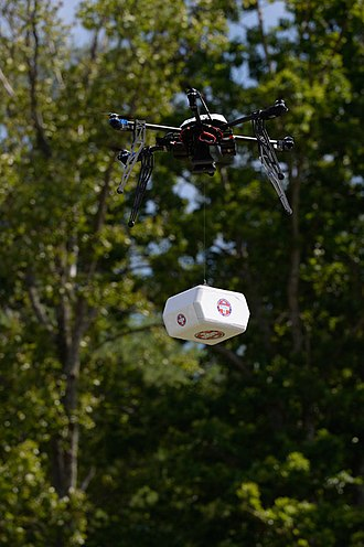 Delivery drone - Flirtey drone used to make the first FAA-approved delivery in the U.S. — accepted into the Smithsonian's National Air and Space Museum