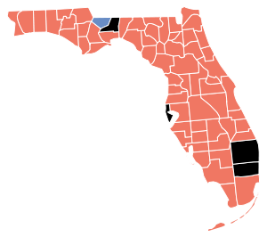Florida Senatorial Election Results by County, 2010.svg