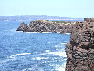 Calasetta - Nido dei Passeri rock on the coast of Calasetta.