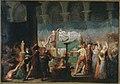 Fougeat - Funérailles de Marat, à l'église des Cordeliers, les 15 et 16 juillet 1793 - P70 - Musée Carnavalet.jpg