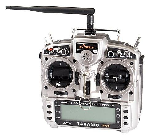 FrSky X9D Taranis plus 2.4 GHz handheld RC transmitter.jpg