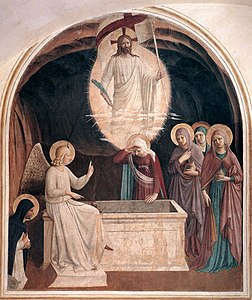 Fra Angelico - Resurrection of Christ and Women at the Tomb (Cell 8) - WGA00542.jpg