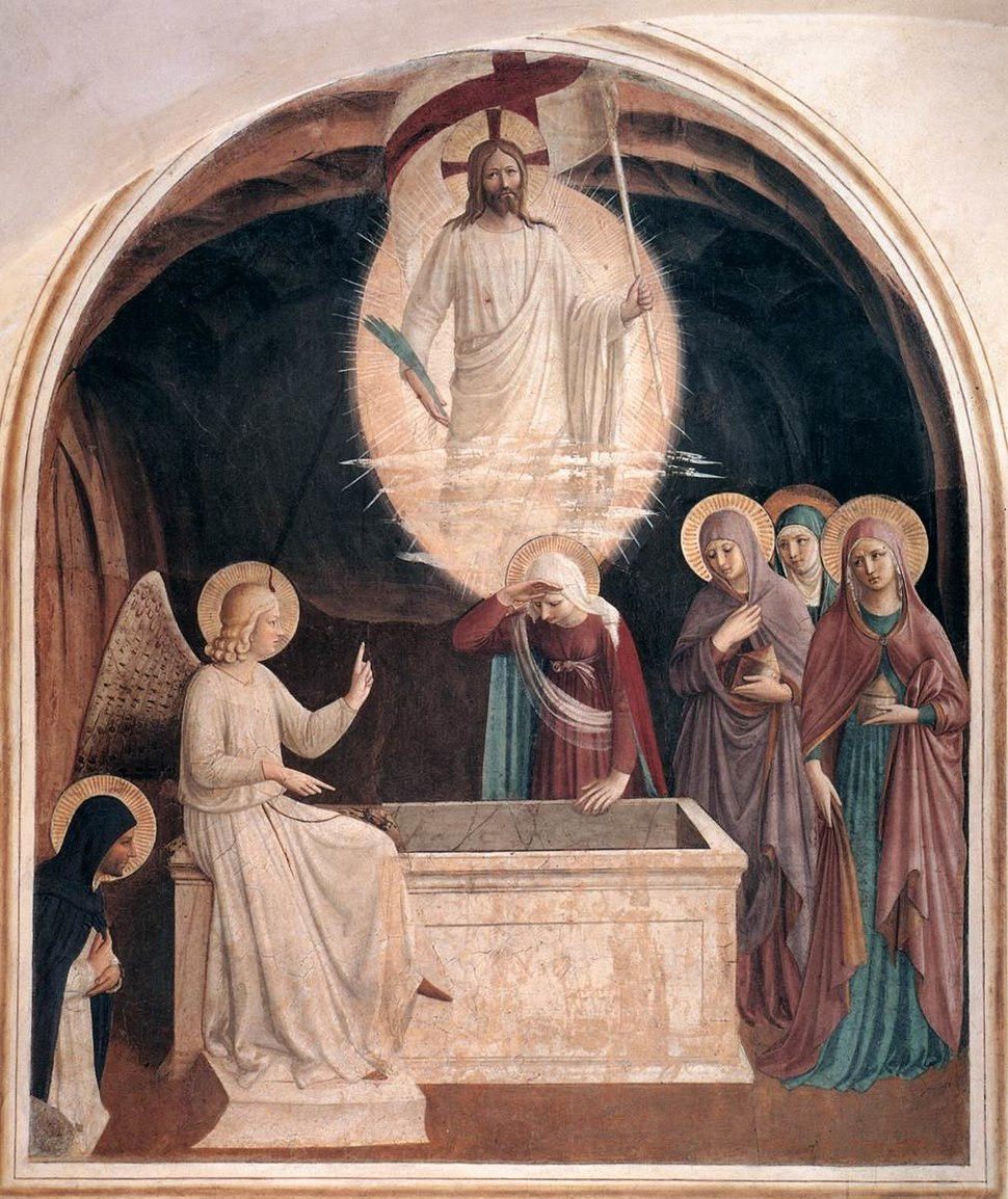 Fra Angelico - Resurrection of Christ and Women at the Tomb (Cell 8) - WGA00542