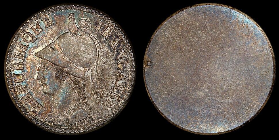 France 1799 2 Decimes (pattern, obverse)