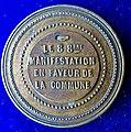France 1870 Medal Paris Commune Manifestation on 8 October, reverse.jpg
