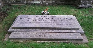 Francis Chichester - The grave of Francis Chichester in the churchyard of St Peter's Church in Shirwell, Devon