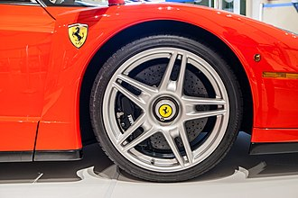 Enzo Ferrari (automobile) - The Ferrari Enzo used carbon ceramic brake discs, a first for a Ferrari road car