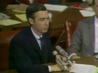 Fiila:Fred Rogers testifies before the Senate Subcommittee on Communications, 1969.ogv
