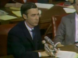 Файл:Fred Rogers testifies before the Senate Subcommittee on Communications, 1969.ogv